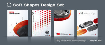 Set of Abstract business design, annual report, vector template brochure. Stock Photo