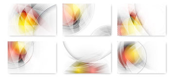 Set of abstract business futuristic innovation background. Royalty Free Stock Photography