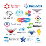 Set of abstract business logos. Illustrated set of colorful abstract business logos in different designs Stock Images