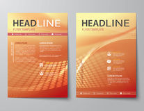 Set of abstract business magazine cover , flyer, brochure flat d Royalty Free Stock Photos