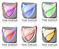 Set of abstract business shields Stock Photography