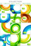 Set of abstract business | tech swirl templates Stock Photos
