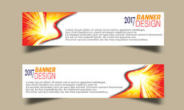 Set of Abstract business wave banner header backgrounds . Royalty Free Stock Photography