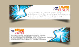 Set of Abstract business wave banner header backgrounds . Stock Photos
