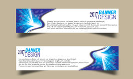 Set of Abstract business wave banner header backgrounds . Royalty Free Stock Photos