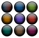Set of abstract buttons Royalty Free Stock Photography