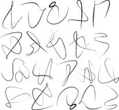 Set of abstract calligraphy swirl Stock Photos