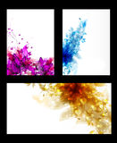 Set of abstract cards Royalty Free Stock Images
