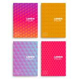 Set of Abstract Cards with Layers Overlap. Applicable for Covers, Placards, Posters, Flyers and Banner Designs. Set of Abstract Cards with Layers Overlap Royalty Free Stock Photos