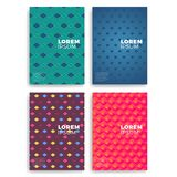 Set of Abstract Cards with Layers Overlap.   Stock Photo