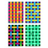 Set of Abstract Cards with Layers Overlap.   Royalty Free Stock Image