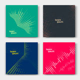 Set of abstract cards Stock Photo