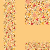 Set of abstract celebration seamless pattern and Royalty Free Stock Images