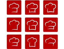 Set of abstract chef hat Royalty Free Stock Images