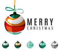 Set of abstract Christmas ball icons, business Stock Photography