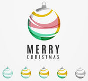 Set of abstract Christmas ball icons, business Royalty Free Stock Photography