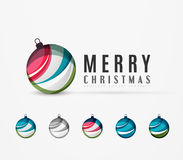 Set of abstract Christmas ball icons, business Royalty Free Stock Photo