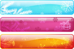 Set abstract christmas banners Stock Photos