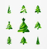 Set of abstract Christmas Tree Icons, business Royalty Free Stock Photos
