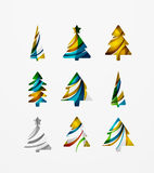 Set of abstract Christmas Tree Icons, business Stock Photo