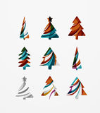 Set of abstract Christmas Tree Icons, business Stock Image