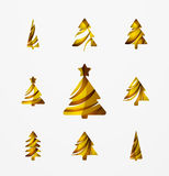 Set of abstract Christmas Tree Icons, business Stock Photos