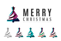 Set of abstract Christmas Tree Icons, business Royalty Free Stock Image