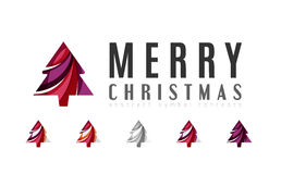 Set of abstract Christmas Tree Icons, business Stock Images
