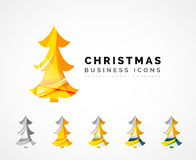 Set of abstract Christmas Tree Icons, business Royalty Free Stock Photography