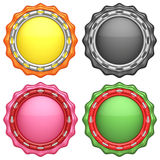 Set of abstract circle labels Stock Image