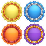 Set of abstract circle labels Royalty Free Stock Image