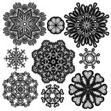 Set of Abstract circle lace patterns. Stock Photography