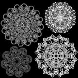 Set of Abstract circle lace patterns. Royalty Free Stock Image
