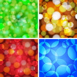 Set of abstract circles seamless pattern. Royalty Free Stock Photo