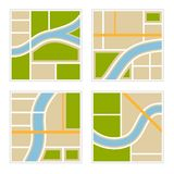 Set of Abstract City Map Illustration. Vector Stock Photography