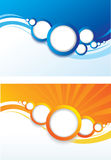 Set of Abstract Color Background. Stock Image