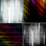 Set of abstract color backgrounds Royalty Free Stock Photography
