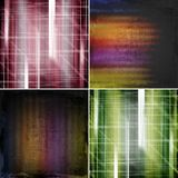 Set of abstract color backgrounds Royalty Free Stock Images