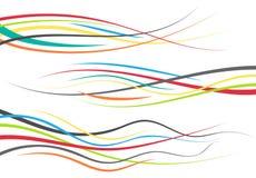 Set of abstract color curved lines. Wave design element. Vector illustration royalty free illustration