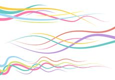 Set of abstract color curved lines. Wave design element. Vector illustration vector illustration
