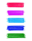 Set of abstract color elements Stock Photography