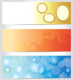 Set - abstract color horizontal backgrounds - eps Royalty Free Stock Image