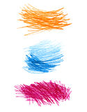 Set of abstract color shapes Royalty Free Stock Photography