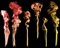 Set of abstract color smoke Stock Photo