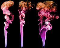 Set of abstract color smoke Stock Photography
