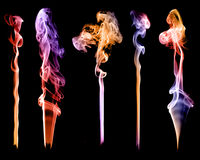 Set of abstract color smoke Royalty Free Stock Photography