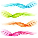Set of Abstract color transparent curved lines Royalty Free Stock Photo