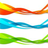Set of abstract color  wavy lines Stock Images