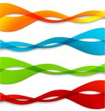 Set of abstract color  wavy lines Stock Photos