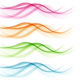 Set of abstract color wavy lines Royalty Free Stock Images